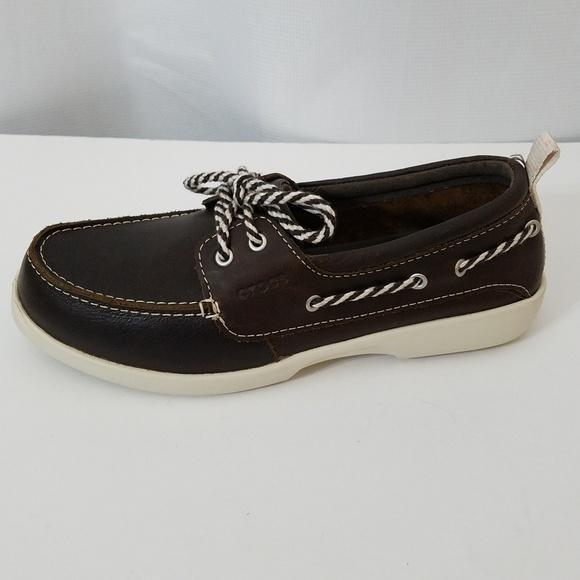 f63017a44d735d Crocs Above Deck Boat Shoes Size 7w